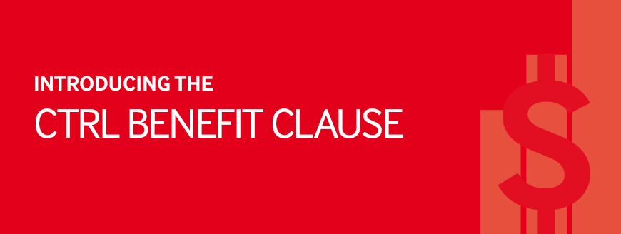 Introducing the CTRL benefit clause