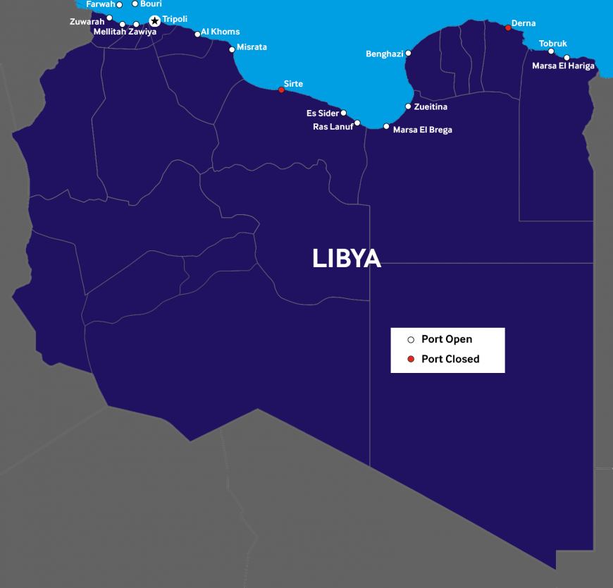 Libya: Vessels and crew at risk if suspected of oil